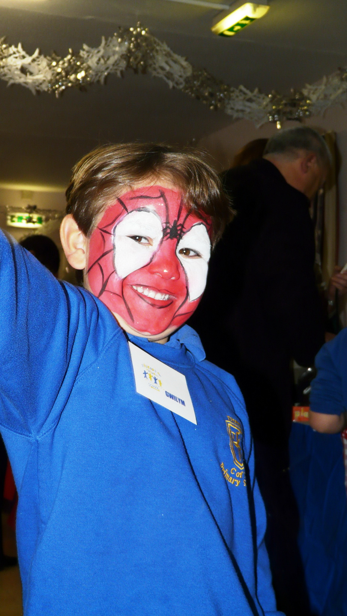 A happy member of Trowell FC in disguise
