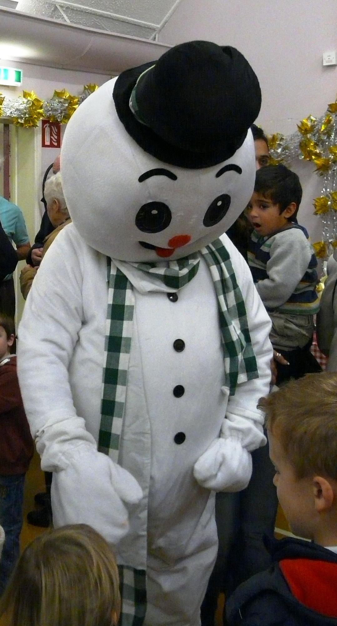 Mr Snowman chatting to the children