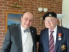 P101Ron Cornhill receiving the Legion d'Honneur from the French Consul Honoraire jean-Claude Lafontaine0232 (2)